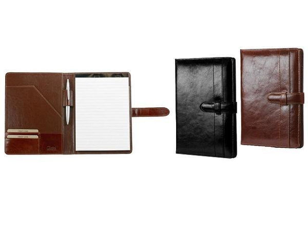 Genuine Leather A5 Folder - Tab Closure And Pen Loop - Mirelle Leather and Lifestyle