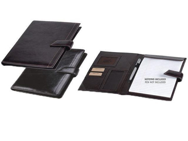 Genuine Leather A5 Mocha Folder with Tab Closure - Mirelle Leather & Lifestyle