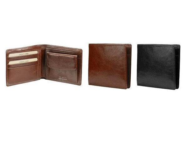 Genuine Leather Adpel Wallet with Coin Holder - Mirelle Leather & Lifestyle