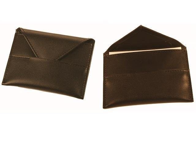 Genuine Leather Business Card Holder with Flap - Mirelle Leather & Lifestyle