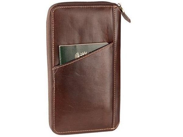 Genuine Leather Dakota Travel Wallet - Mirelle Leather and Lifestyle