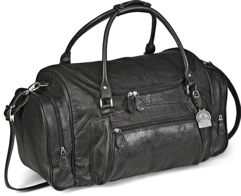 Genuine Leather Elegant Weekend Bag - Black - Mirelle Leather & Lifestyle