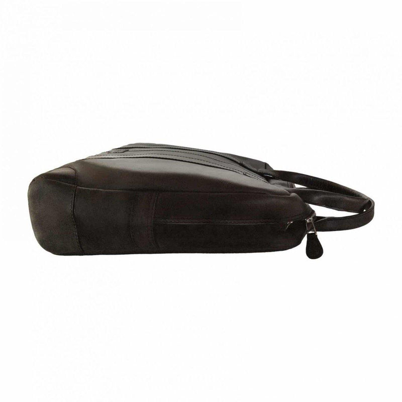 Genuine Leather Laptop Bag - Black - Mirelle Leather & Lifestyle