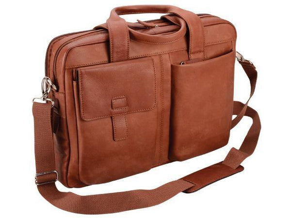 Genuine Leather Laptop Computer Bag - Toffee Brown - Mirelle Leather & Lifestyle