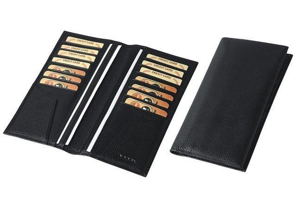 Genuine Leather Long Slim Credit Card Holder - Mirelle Leather and Lifestyle
