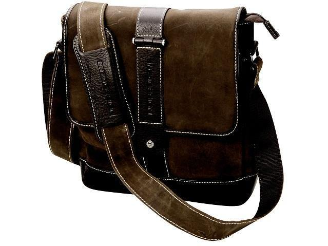 Genuine Leather Messenger Bag Wit Contrast Trim - Mirelle Leather and Lifestyle