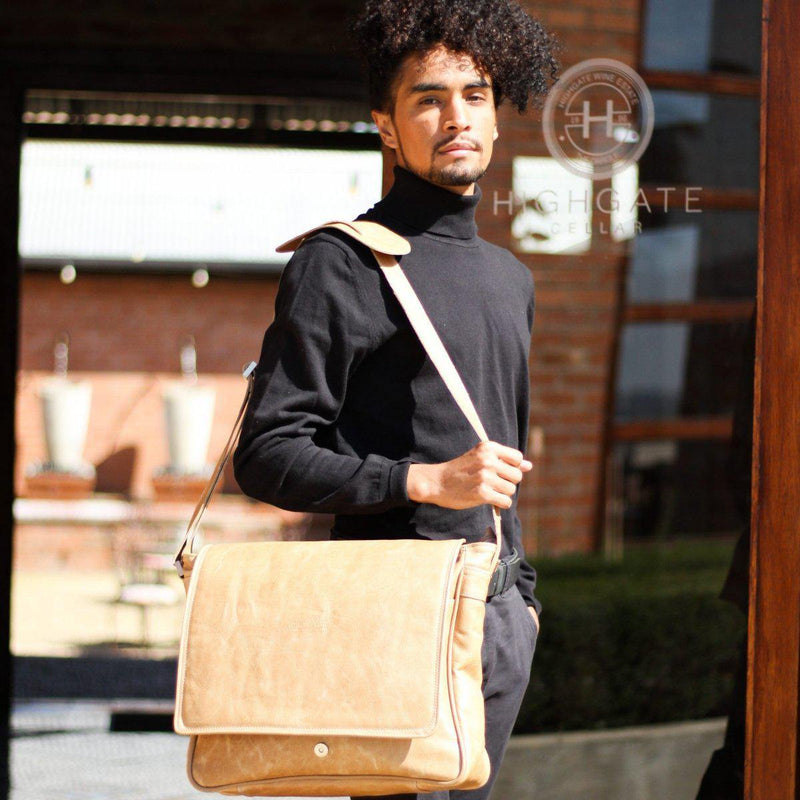"Genuine Leather Messenger Laptop Bag -15"" Laptop - Mirelle Leather & Lifestyle"