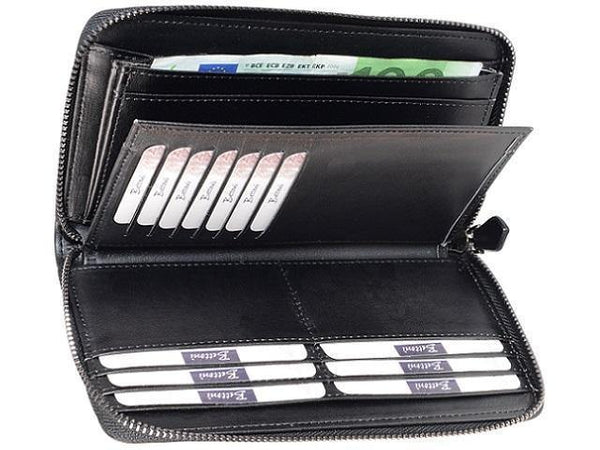 Genuine Leather Multi Holder Purse Wallet With 4 Bank Note Sections - Mirelle Leather and Lifestyle