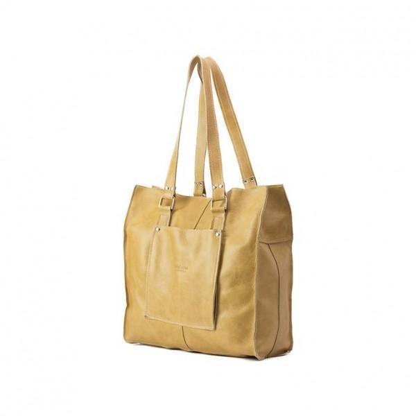 Genuine Leather Tote Handbag Large - Hazelnut - Mirelle Leather and Lifestyle