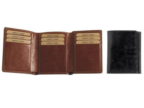 Genuine Leather Tri Fold Card Holder - Mirelle Leather & Lifestyle
