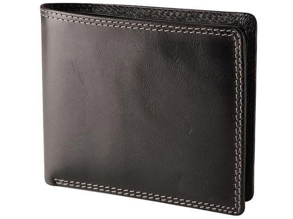 Genuine Leather Wallet Notes & Cards - No Coin Holder - Black - Mirelle Leather and Lifestyle