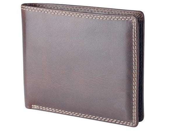 Genuine Leather Wallet Notes & Cards - No Coin Holder - Brown - Mirelle Leather and Lifestyle