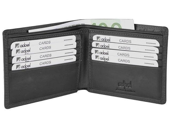 Genuine Leather Wallet with Bank Note & 8 Credit Card Slots - Mirelle Leather & Lifestyle