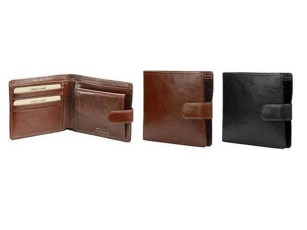 Genuine Leather Wallet with Coin Section & Tab Closure - Mirelle Leather & Lifestyle