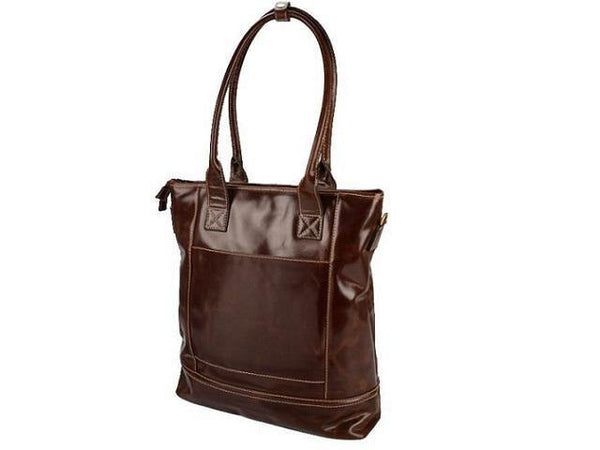 Genuine Leather Woman's Status Laptop Handbag - Mirelle Leather & Lifestyle