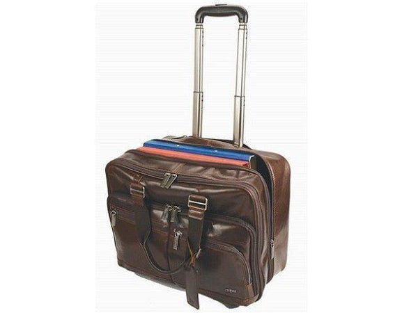 Genuine Leather Work Laptop Trolley Bag - Mirelle Leather & Lifestyle