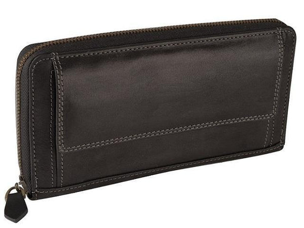 Genuine Leather Zip Closure Purse - Mirelle Leather and Lifestyle