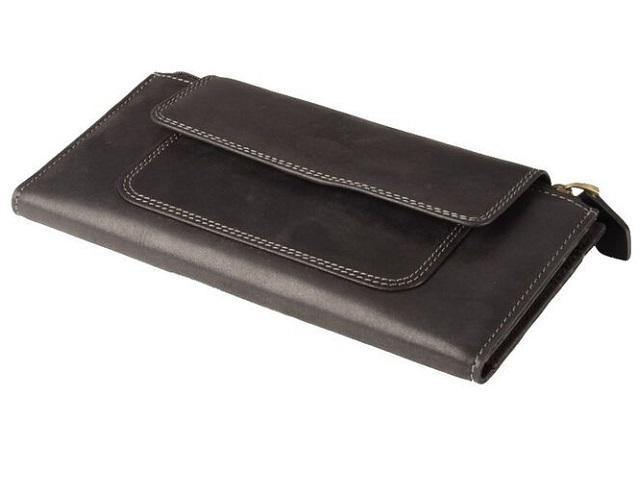 Genuine Leather Zip & Magnetic Button Closure Purse - Mirelle Leather and Lifestyle