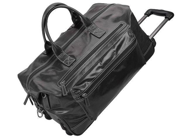 Genuine Nappa Leather Duffel Trolley Bag - Mirelle Leather & Lifestyle