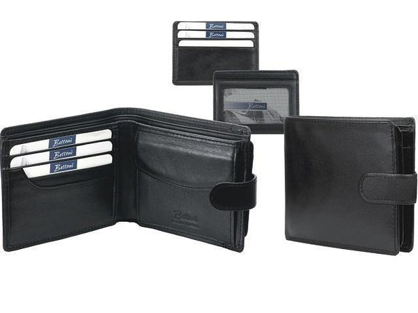 Genuine Nappa Leather Wallet with Coin Holder & Tab Closure - Mirelle Leather & Lifestyle