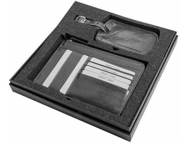Gift Set * Genuine Leather Passport Holder and Luggage Tag - Mirelle Leather & Lifestyle