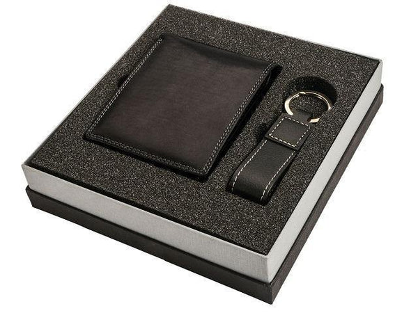 Gift Set * Genuine Leather Wallet And Key Ring Set - Mirelle Leather and Lifestyle