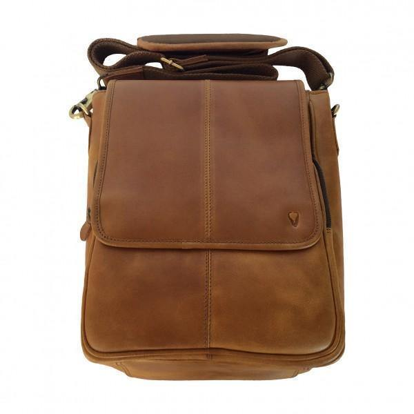 John Buck Genuine Leather Messenger with Magnetic Clip - Mirelle Leather & Lifestyle