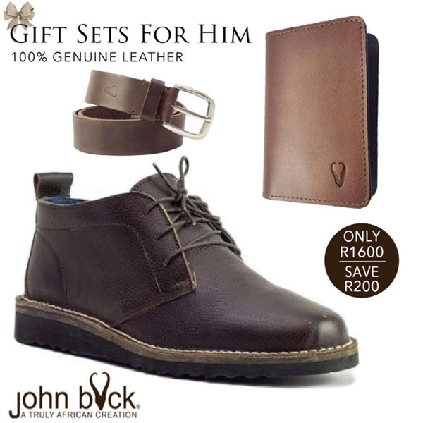 John Buck Gift Set for Him-Mirelle Leather & Lifestyle