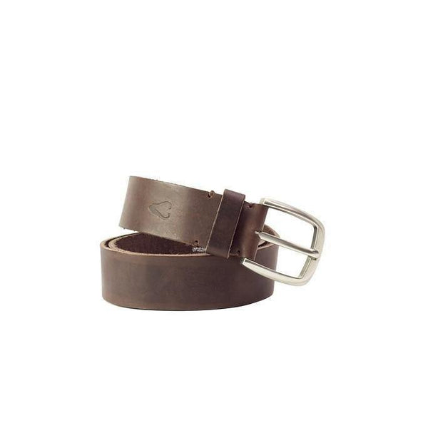 John Buck Men'S Leather Belt - Brown - Mirelle Leather and Lifestyle
