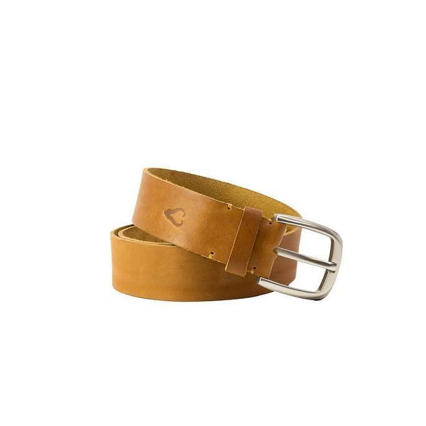 John Buck Men's Leather Belt - Tan - Mirelle Leather & Lifestyle