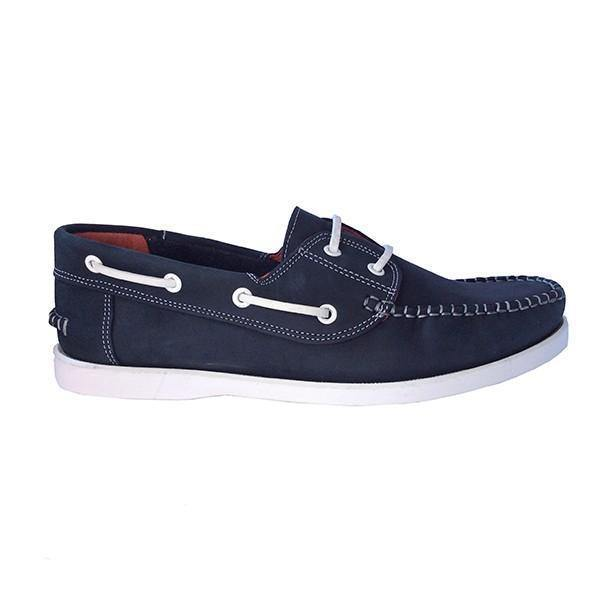 John Buck Men's Leather Moccassins - Blue - Mirelle Leather & Lifestyle
