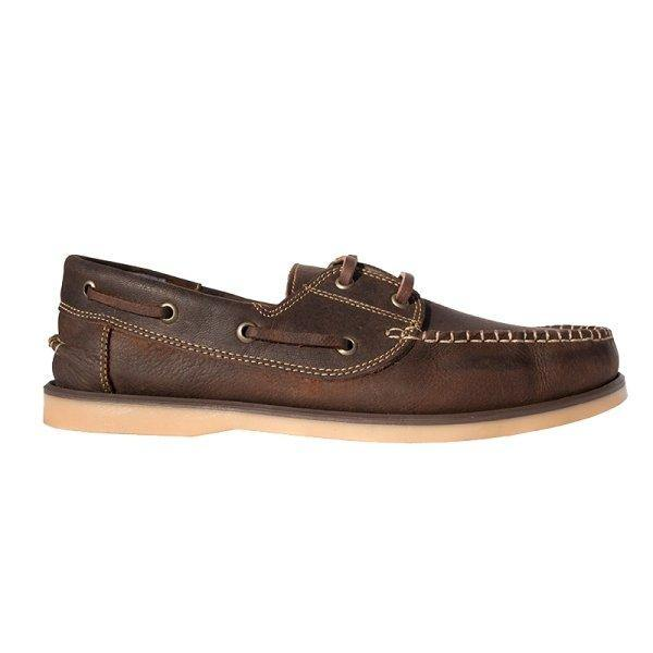 John Buck Men'S Leather Moccassins - Brown - Mirelle Leather and Lifestyle