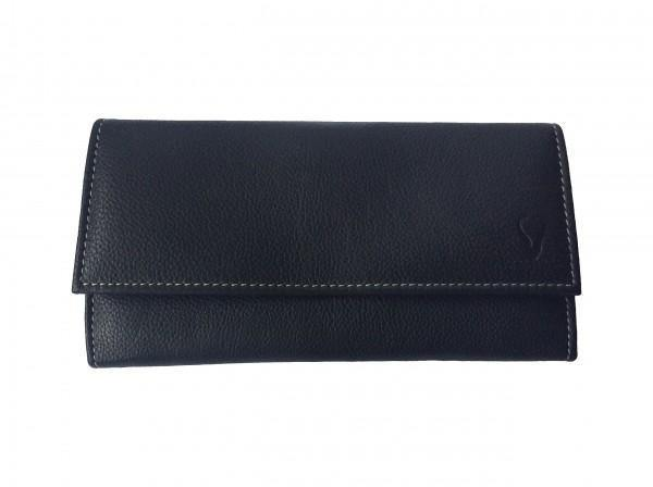 Ladies Genuine Leather Purse - Black - Mirelle Leather and Lifestyle