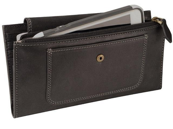 Ladies Royale Purse - Black - Mirelle Leather & Lifestyle
