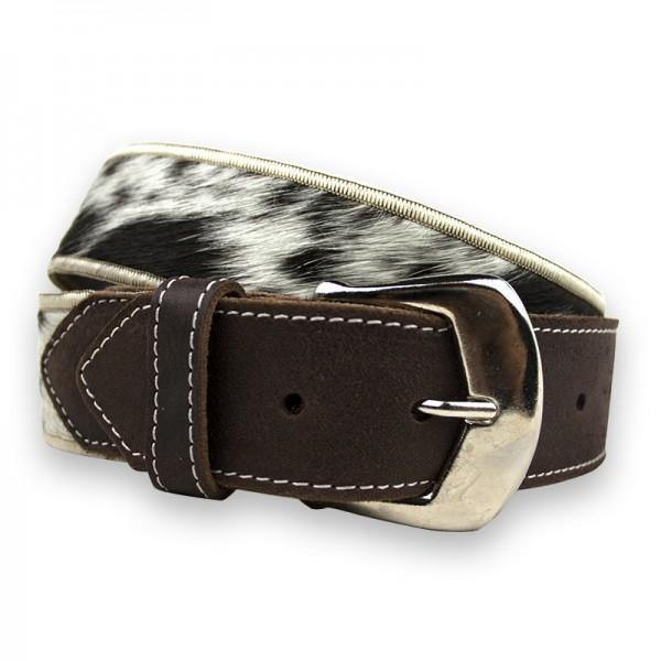 Leather And Nguni Belt - Mirelle Leather and Lifestyle