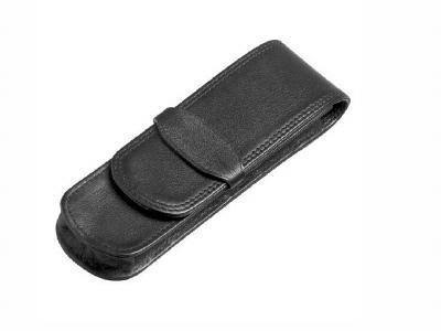 Leather pen pouch for 2 pens - Mirelle Leather & Lifestyle