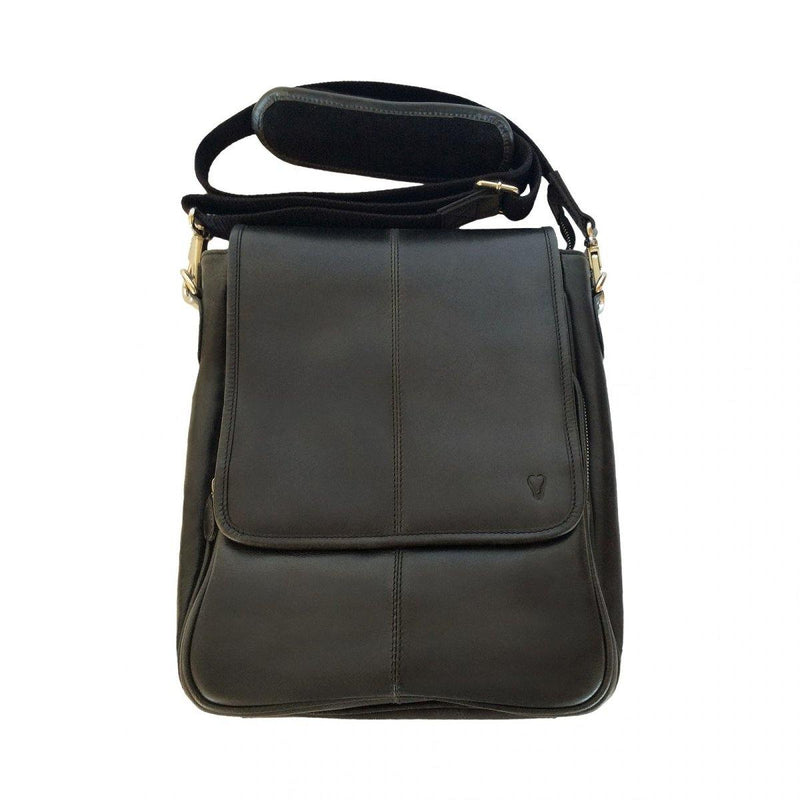 Mens Leather Bag - Black - Mirelle Leather and Lifestyle