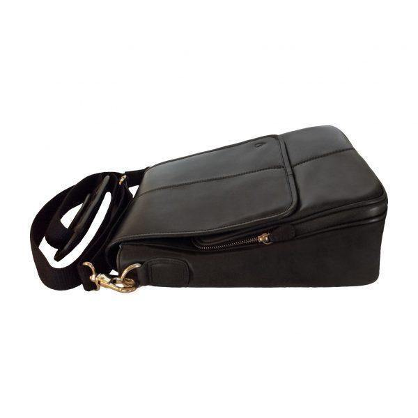 Mens Leather Bag - Black - Mirelle Leather & Lifestyle