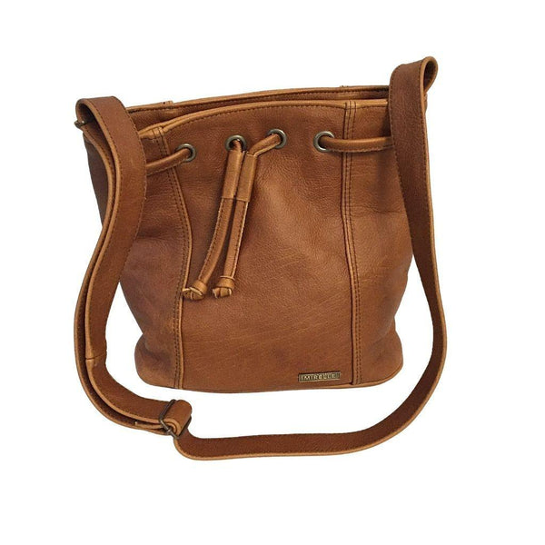 Mirelle Genuine Leather Bucket Drawstring Handbag - Mirelle Leather and Lifestyle