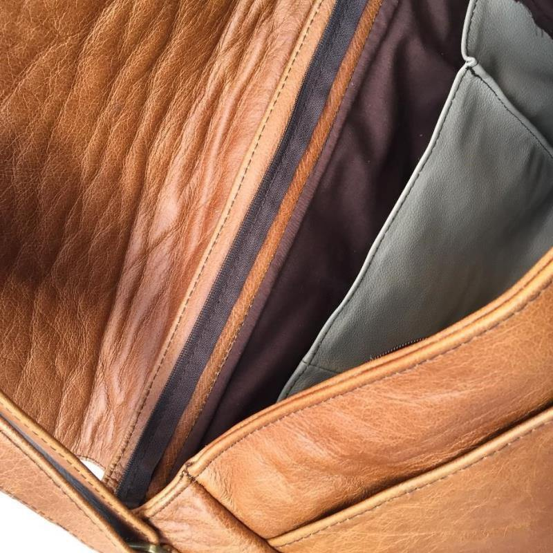 Mirelle Genuine Leather Classic Office Laptop Bag - Mirelle Leather & Lifestyle