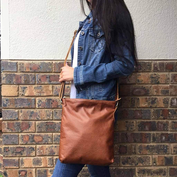 Mirelle Genuine Leather Everyday Messenger Handbag - Mirelle Leather and Lifestyle
