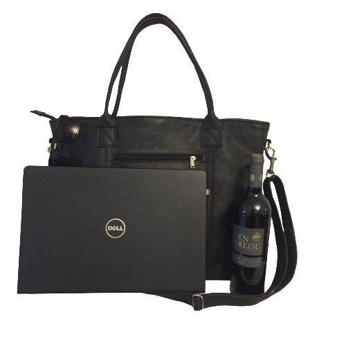 Mirelle Genuine Leather Extra Large Classic Tote - Laptop Handbag - Mirelle Leather & Lifestyle
