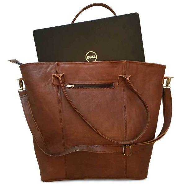 Mirelle Genuine Leather Extra Large Classic Tote - Laptop Handbag - Mirelle Leather and Lifestyle