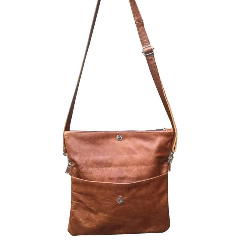 Mirelle Genuine Leather Foldover Messenger Handbag - Mirelle Leather & Lifestyle