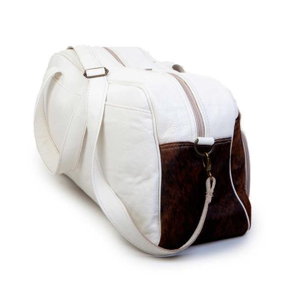 Mirelle Genuine Leather & Nguni Hide Weekender Bag - Mirelle Leather & Lifestyle