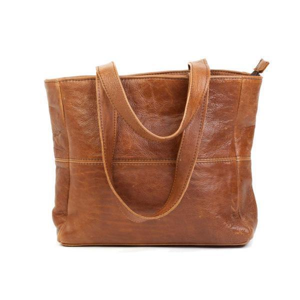 Mirelle Genuine Leather Small Shopper With Outside Zip - Mirelle Leather and Lifestyle