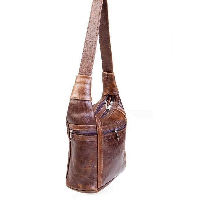 Mirelle Genuine Leather Zips All Around Shoulder Handbag - Mirelle Leather and Lifestyle