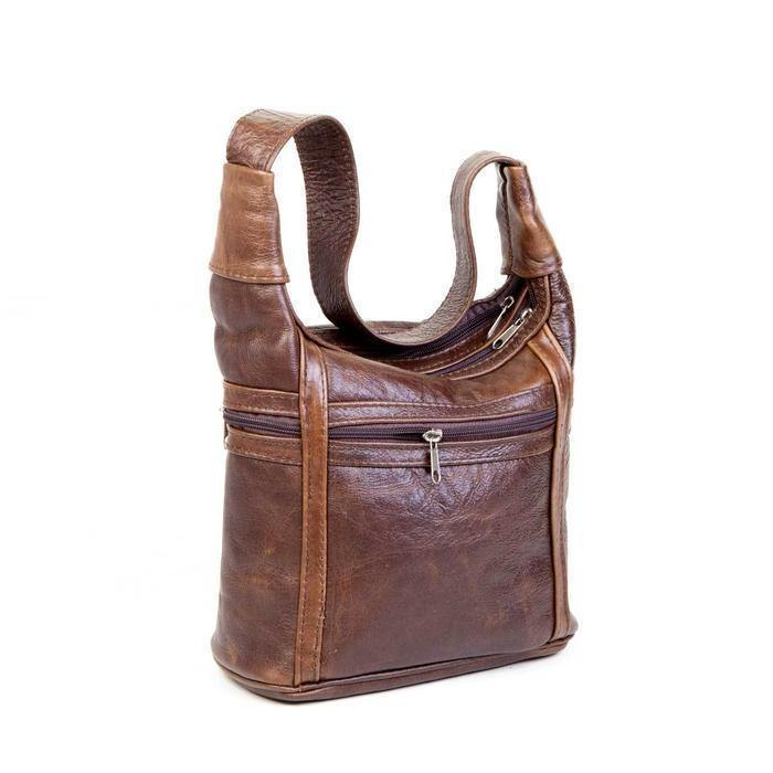 Mirelle Genuine Leather Zips All Around Shoulder Handbag - Mirelle Leather & Lifestyle