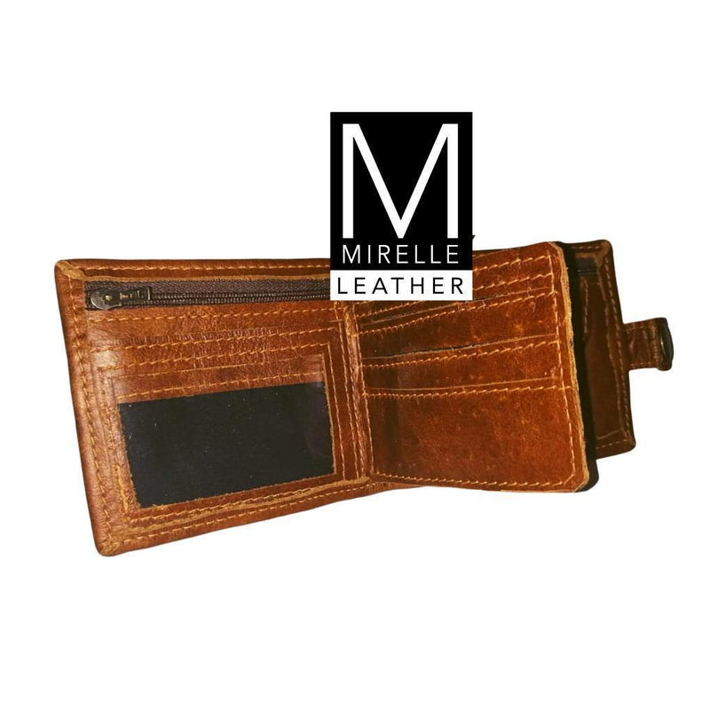 Mirelle Men's Wallet With Press Stud Closure - Mirelle Leather & Lifestyle