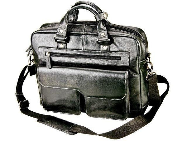 Nappa Genuine Leather Laptop and Document Bag - 17 inch - Mirelle Leather & Lifestyle